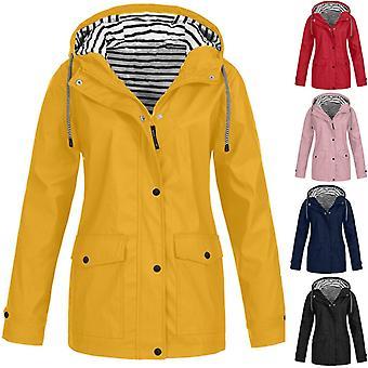 Women Jackets, Winter Coat Solid, Rain Outdoor Plus Waterproof Hooded Raincoat