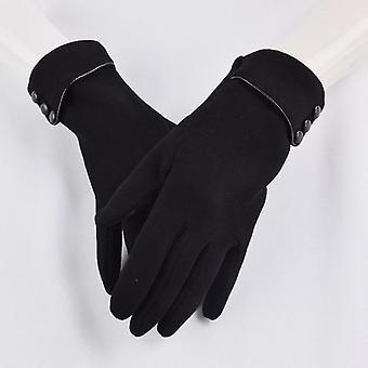女性のタッチスクリーン冬の手袋秋暖かい手袋の手首ミトン運転スキー