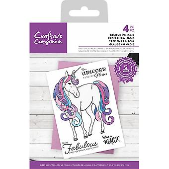 Crafter's Companion Believe in Magic Clear Stamps