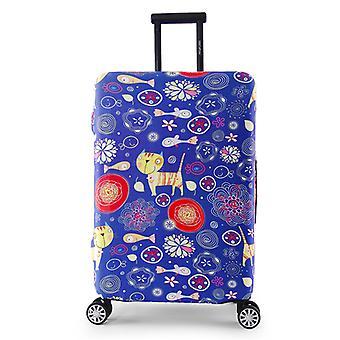 Travel Luggage Protector Fish Cat Print