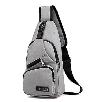 Anti-theft Chest Pack Usb Charging, Water Repellent Shoulder Bag