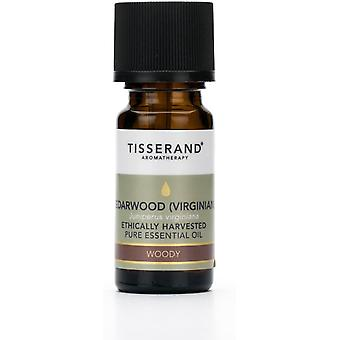 Tisserand Aromatherapy Cedarwood Virginian Ethically Harvested Essential Oil 9ml