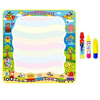 Magic Doodle Mat With Magic Pens, Water Colorful Mat For Children Kids Activity