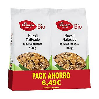 Bio Malted Muesli Pack 2 units of 400g
