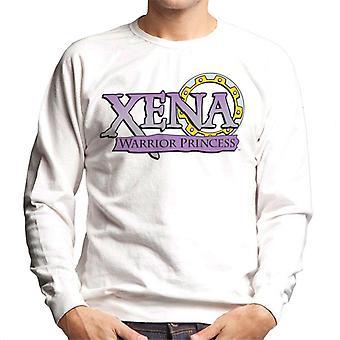 Xena Warrior Princess Purple Gradient Logo Men's Sweatshirt