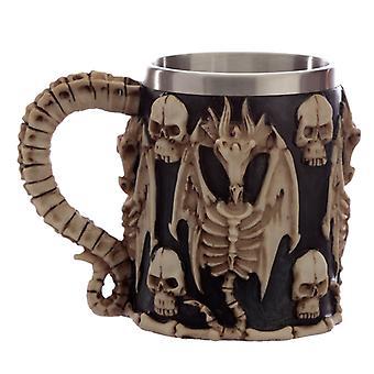 Decorative Skull and Dragon Tankard