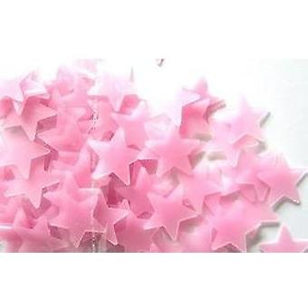 100pcs Of 3d Stars -luminous Fluorescent Plastic Wall Stickers