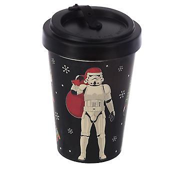 Bamboe composiet de originele stormtrooper kerstmis zwarte schroef top reismok
