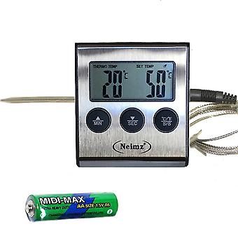 Kitchen Food Cooking Grilling Meat Bbq Thermometer And Timer