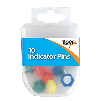 Tiger Stationery Essential Indicator Pins (Pack of 10)