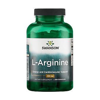 L-Arginine, 500mg 200 kapsler