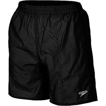 Speedo Boy's Solid Leisure 15 Inch Swim Shorts - Black