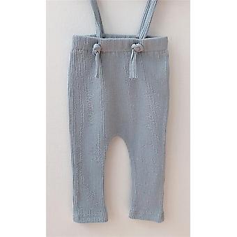 Pantalones recién nacidos pantalones acanalados algodón leggings correa pantalones para el bebé