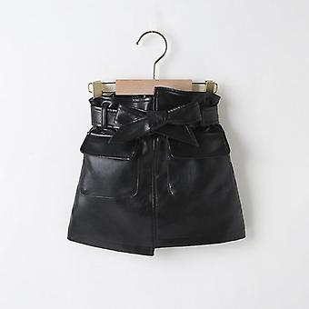 Girls Pu Leather Skirts