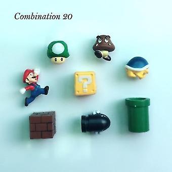 Super Mario nasta jääkaappimagneetit, Kodin sisustus, Koristeet, Figurines Seinä
