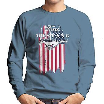 フォードマスタングフェーションアメリカンフラッグメン&アポ;sスウェットシャツ