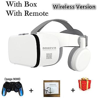 Bobo vr bobovr z6 bluetooth 3 d casque viar ochelari 3d realitate virtuală cască cască ochelari de protecție lentile video pentru telefon smartphone