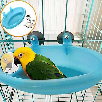New Bird Water Bath Tub For Pet Parrot Cage Hanging Bowl Supplies Parakeet