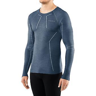 Falke Wool Tech Långärmad T-Shirt - Capitain Blå