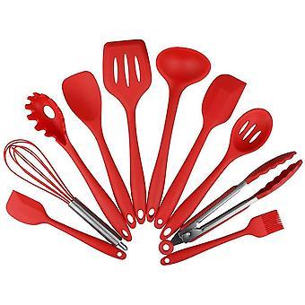 10 festsitzen Silikon Kchengerte Set - Spatel, Lffel und Turner, hitzebestndig Premium Home Kochen Werkzeuge