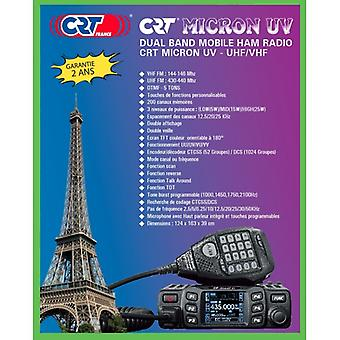 VHF / UHF CRT MICRON UV kaksikaistainen radioasema 136-174Mhz - 400-470Mhz, 13.8 Vdc, DTMF, Dual Watch, TOT, Scan, Talk Around