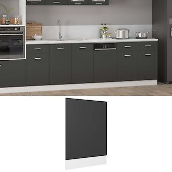 vidaXL dishwasher hood Grey 45x3x67 cm chipboard