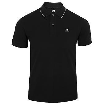C.p. company men's black polo shirt