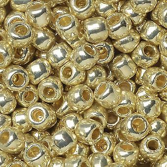 """Tohon siemenet, pyöreä 6/0 #PF558 """"pysyvä viimeistely galvanoitu alumiini"""", 8 grammaa"""