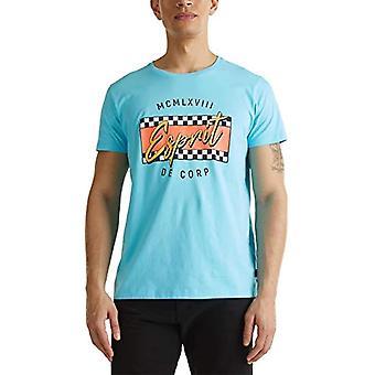 edc by Esprit 040cc2k313 T-Shirt, 440/Light Blue, XL Men's