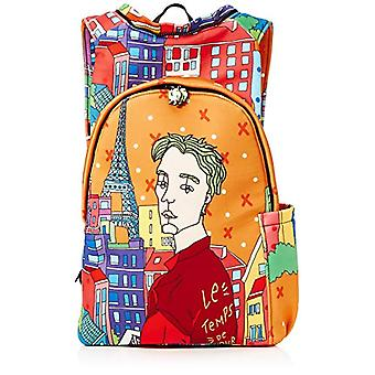 MorikukkoMorikukko Hooded Backpack ParisUnisex - AdultZainiMulticolore (Paris)33x8x40 Centimeters (W x H x L)