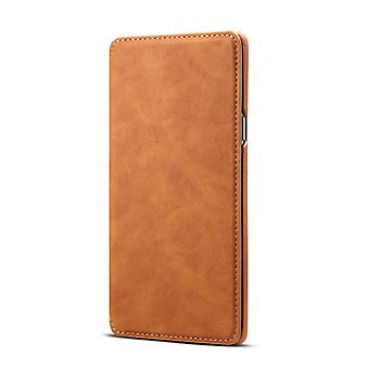 Wallet leather case card slot for samsung note9 brown no3903