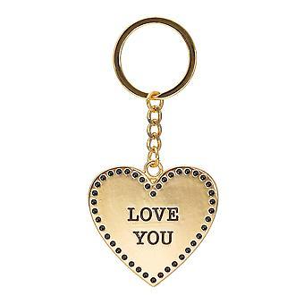 Sass & Belle Gold Kærlighed Heart Nøglering