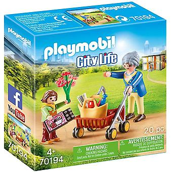 Playmobil City Life Grandmother With Child Playset