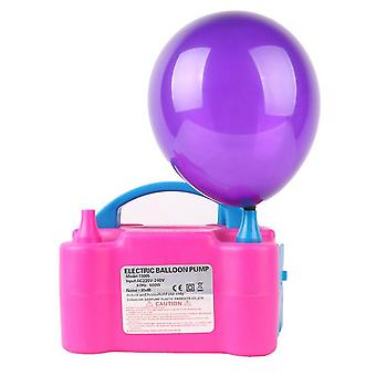 bærbar elektrisk ballong pumpe luftpumpe 600w luftblåser 2 dyse fest 220v (uk plugg)