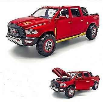 1:32 Simulatie legering auto model dodge-ram trx-pickup geluid en licht terug te trekken speelgoed auto geschenken