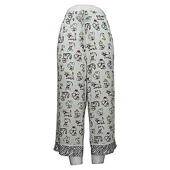 Cuddl Duds Women's Cool & Airy Printed Pajama Cropped Pant Green A373980