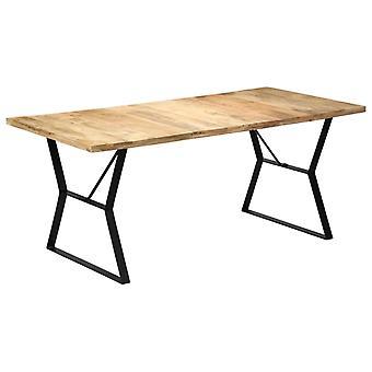 """שולחן אוכל vidaXL 180 x 90 x 76 ס""""מ מנגו מעץ מלא"""