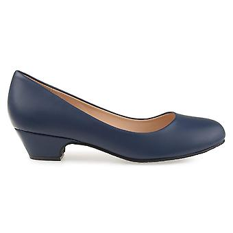 Brinley Co Womens Soren Classic Faux Leather Comfort-Sole Heels