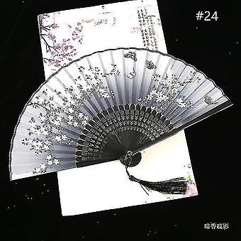 Китайский винтажный стиль складной фан-арт крафт подарок танец ручной вентилятор домашнее украшение украшения (#24)