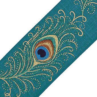 9,1m 63mm kudottu riikinkukko langallinen reunanauha käsitöitä