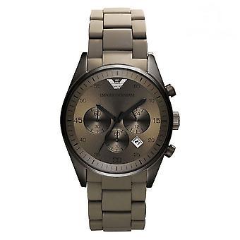 Emporio Armani AR5951 gris silicona Cuarzo Cronógrafo reloj de los deportes