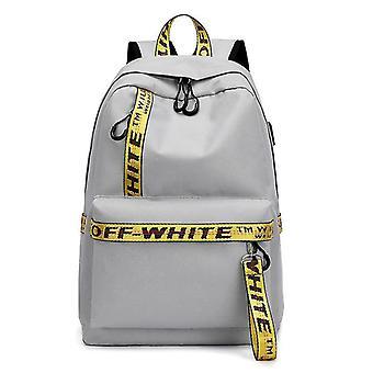 Lady's casual backpack na wyjście (szary)