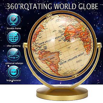 Jordbaseret Earth Globe verdenskort med stand geografi uddannelse legetøj ornament