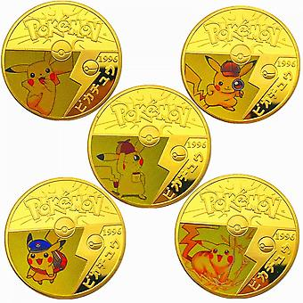 Pickup Mouse Pokemon Gold-plated Commemorative Coin