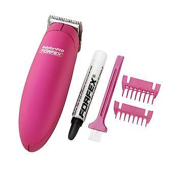 BaByliss Pro Palm Pro hår trimmer liten ganske batteridrevet-rosa
