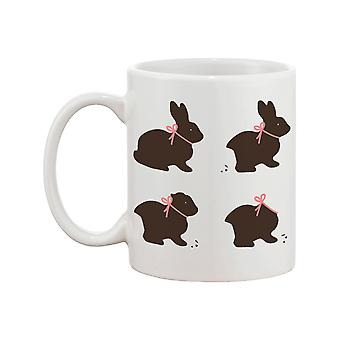 Morsom og søt sjokolade Easter Bunny keramisk kaffe krus - god påske