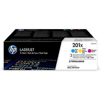 HP 201X 3-pack original cyan/magenta/yellow LaserJet high capaciter cartridge