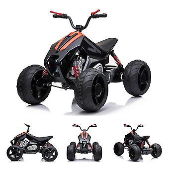 ES-Toys Niños Electroquad 718 2x 12V Motores Eléctricos Faros de hasta 6 km/h