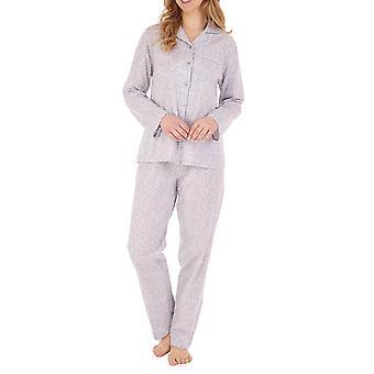 slankella pj88103 kvinners floral bomull pyjamas sett