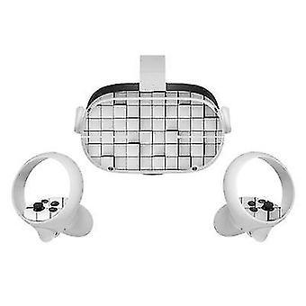 Adesivo de pele de vinil para oculus quest 2 vr fone de ouvido controlador pvc decalques capa de desenho animado bonito para